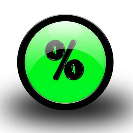 procent mark  Stock Photo