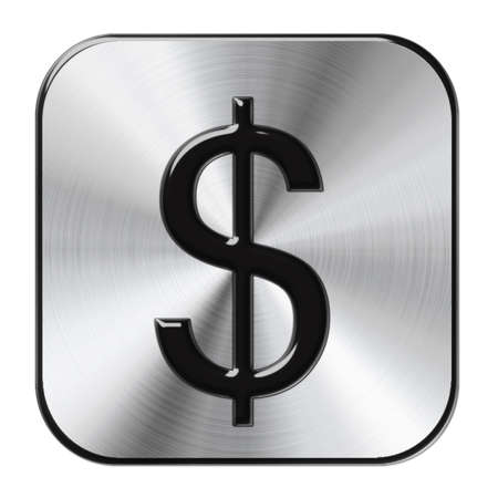 chrome dollar button