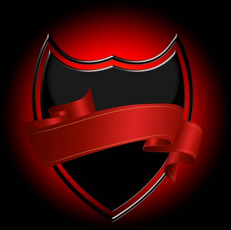 ribbon with shield