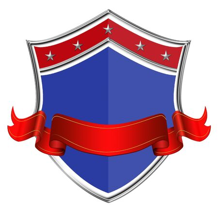 shield with ribbon in us style Editorial