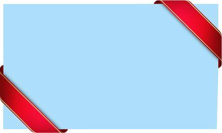 light blue ribbon card