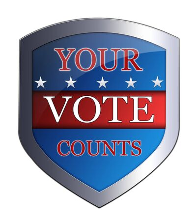 your vote counts Stock Photo
