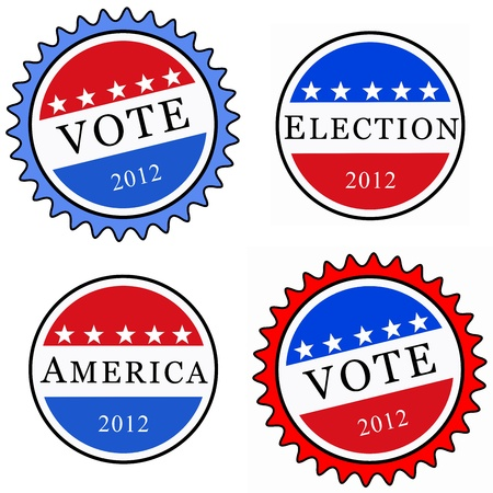 Election Buttons Stock Photo - 12026618