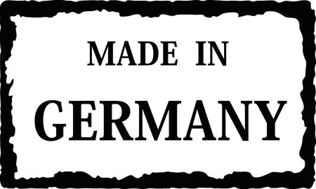 made in: in germany Stock Illustratie