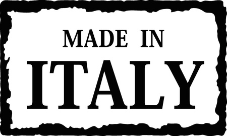 made in: in Italië Stock Illustratie
