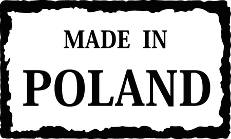 made in poland Stock Vector - 12672030