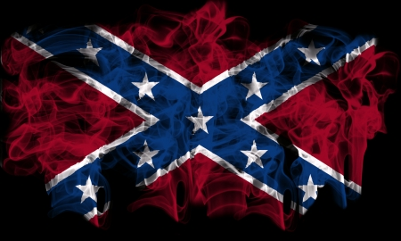 Confederate smoking flag Stock Photo