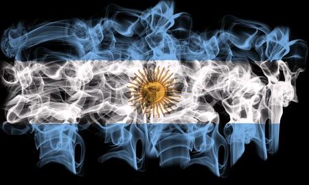 bandera argentina: fumar bandera de la Argentina