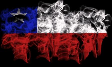 smoking flag of Chile Stock Photo