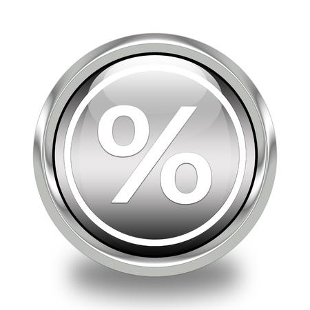 Glossy Percent Icon