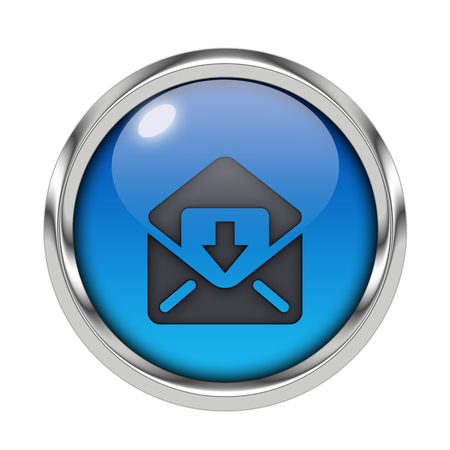 Glossy download icon Stock Photo