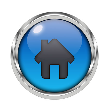 Glossy home icon
