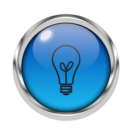 Glossy light icon Stock Photo