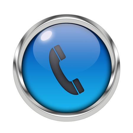 Glossy phone icon Stock Photo - 22637083