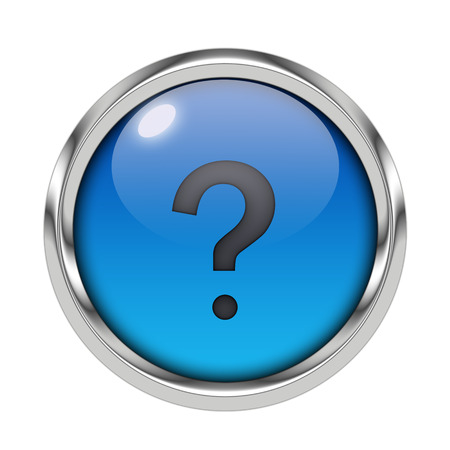 Glossy question mark icon