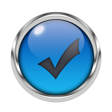 Glossy validation icon Stock Photo