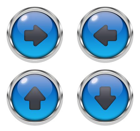 Arrow icons - blue