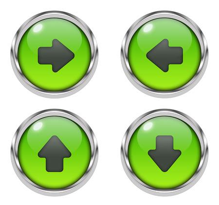 Arrow icons - green Stock Photo