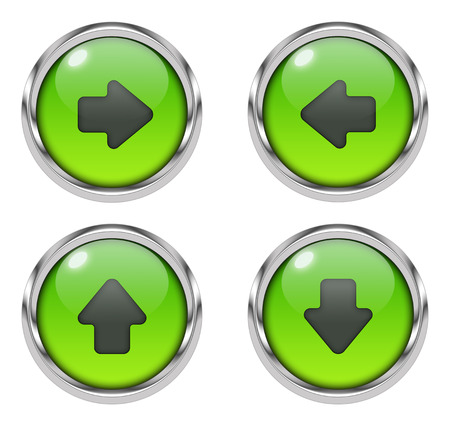 Arrow icons - green Stock Photo