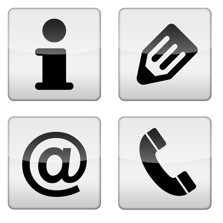 Glossy office business icon app