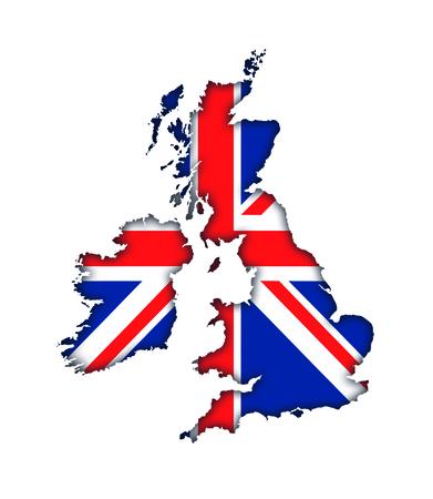 Great Britain England UK flag map banner icon Union Jack