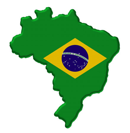Map of Brazil Stock Photo