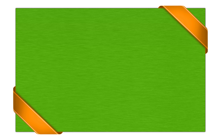Green gift card with orange ribbon