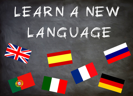 learn a new language Stock Photo