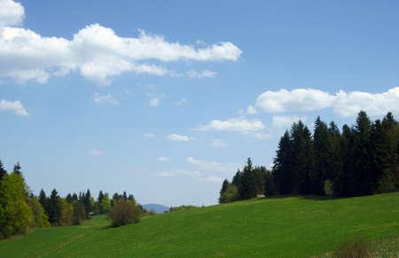 Carpathian mountains at spring, Poland