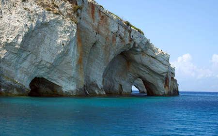 blue caves, Zakynthos island, Greece