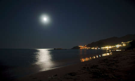 full moon on Zakynthos island, Greece photo