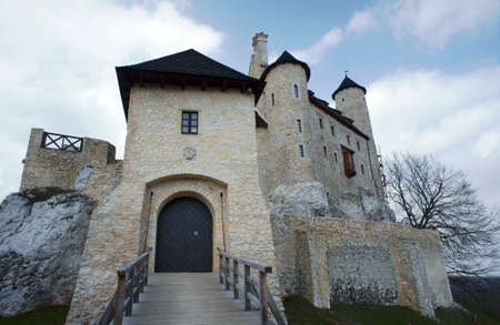 bobolice: Medieval castle with towers in Bobolice, Poland