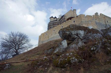 bobolice: Medieval castle in Bobolice, Poland Editorial