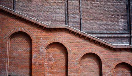 poznan: Building with red wall, Poland, Poznan