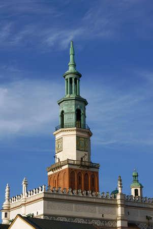 Tower of City Hall in Poznan, Poland Zdjęcie Seryjne