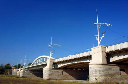 poznan: river and bridge in Poznan, Poland