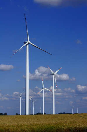 turbines in wind farm, Poland photo