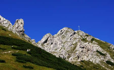 giewont: peak Giewont in Tatras , Poland Stock Photo