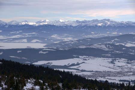 carpathian: mountains at winter, Poland,Carpathian