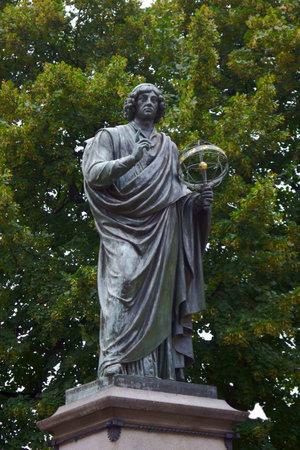 astronomer: monument to astronomer, Nicolaus Copernicus,Poland
