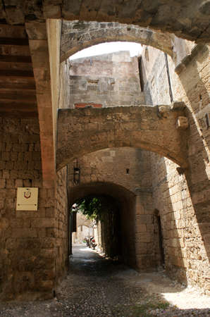 backstreet: backstreet en la ciudad de Rodas, Grecia Editorial