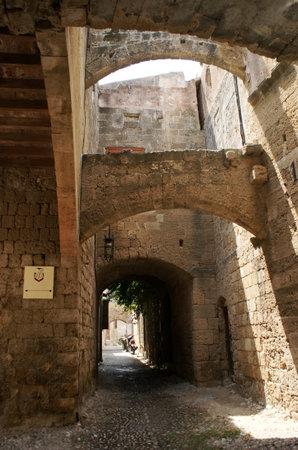 backstreet: backstreet in City of Rhodes, Greece