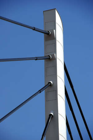 poznan: pylon,suspension bridge, Poznan, Poland