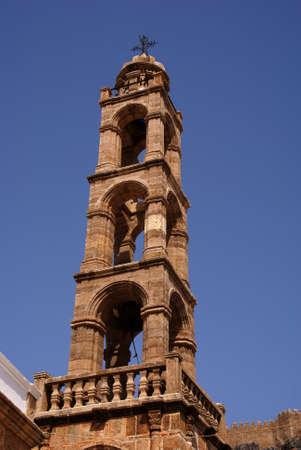 lindos: tower,church,Greece,Rhodes,Lindos