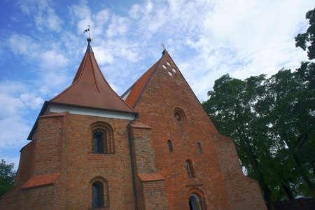 poznan: facade gothic of church, Poland,Poznan