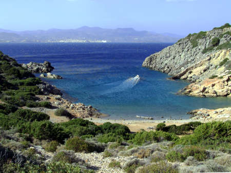 rocky bay, Greece, Crete photo