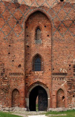 teutonic: Gateway gotico, Cavalieri Teutonici, Polonia Archivio Fotografico