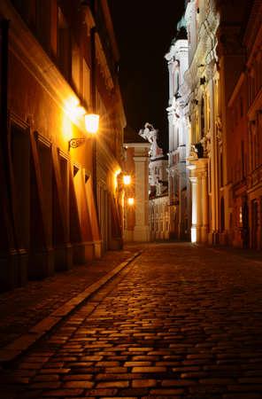 poznan: church at night,Poland, Poznan