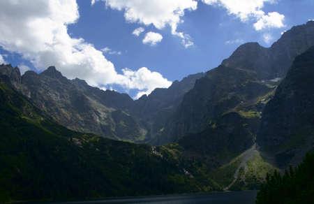 morskie: lake in mouintains,Poland,Tatras,Morskie Oko