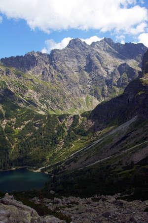 oko: lake in mountains,Poland,Tatras,Morskie Oko